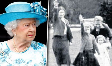 The-Queen-waving-to-the-camera-in-black-and-white-592170